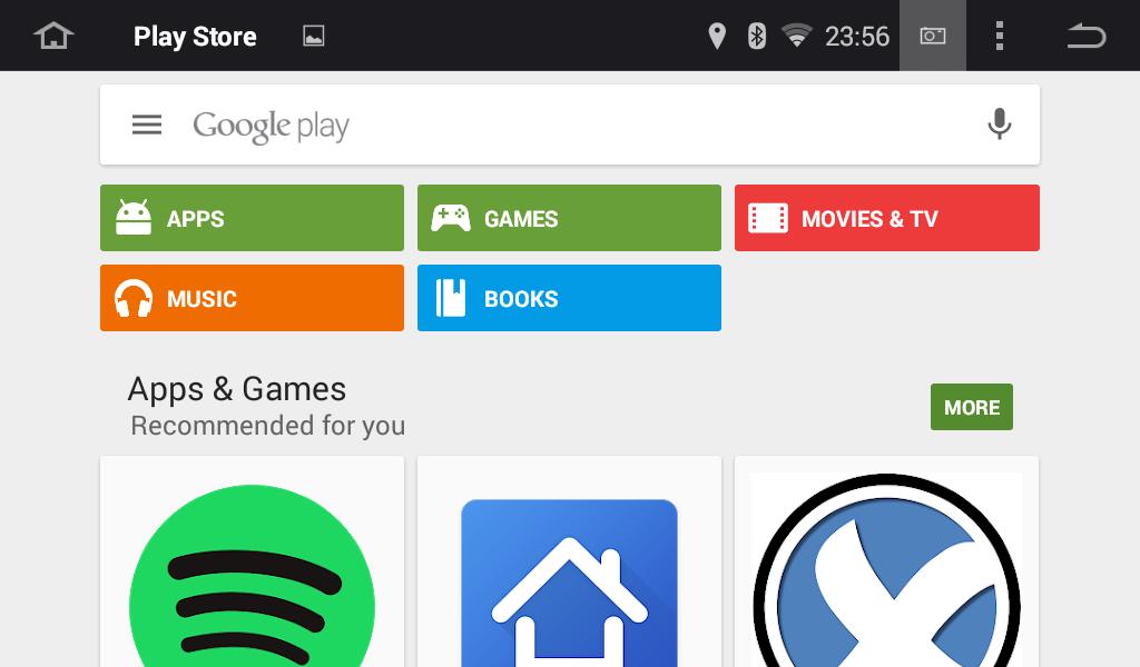 Android Autoradio Joying JY-VQ124 Vorinstallierter Play Store