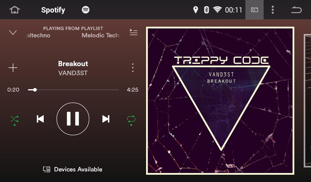 Android Autoradio Joying JY-VQ124 Spotify