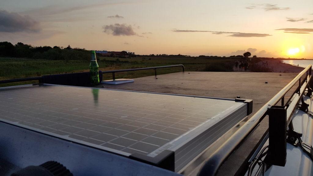 Solarzelle auf dem Dach