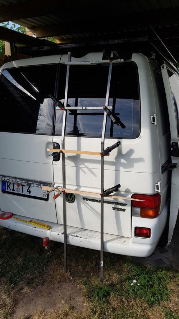 VW T4 Heckleiter selber bauen