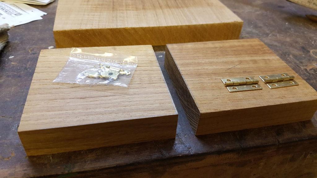Holzzuschnitt für Schmuckkästchen